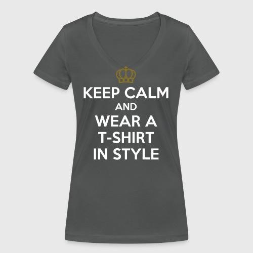 KEEP CALM - Women's Organic V-Neck T-Shirt by Stanley & Stella