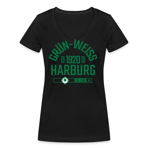 SV Grün-Weiss Harburg estd. - Frauen Bio-T-Shirt mit V-Ausschnitt von Stanley & Stella