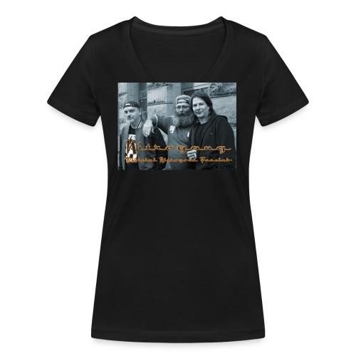 Three Men And a Gang - Frauen Bio-T-Shirt mit V-Ausschnitt von Stanley & Stella
