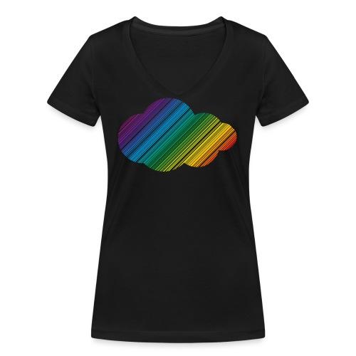 Regnbågsmoln - Ekologisk T-shirt med V-ringning dam från Stanley & Stella
