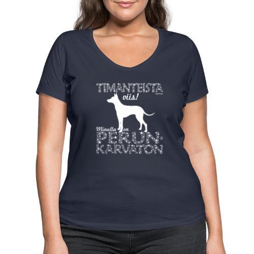 Perunkarvaton Timantti - Stanley & Stellan naisten v-aukkoinen luomu-T-paita