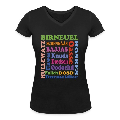schimpf - Frauen Bio-T-Shirt mit V-Ausschnitt von Stanley & Stella