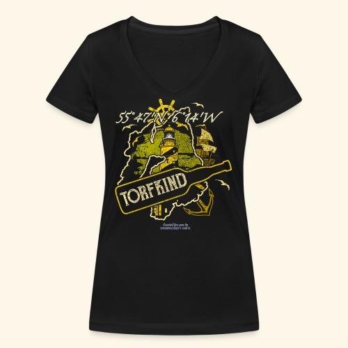 Whisky T Shirt Design Islay Single Malt Peat Torf - Frauen Bio-T-Shirt mit V-Ausschnitt von Stanley & Stella