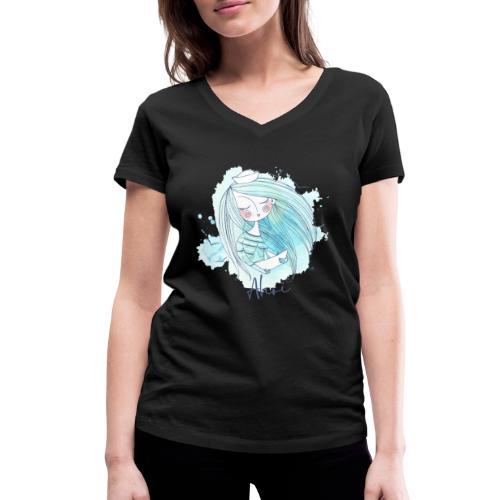Meermädchen Ahoi - Frauen Bio-T-Shirt mit V-Ausschnitt von Stanley & Stella