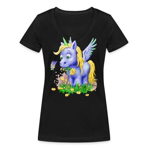 unicorn on mushrooms - Frauen Bio-T-Shirt mit V-Ausschnitt von Stanley & Stella