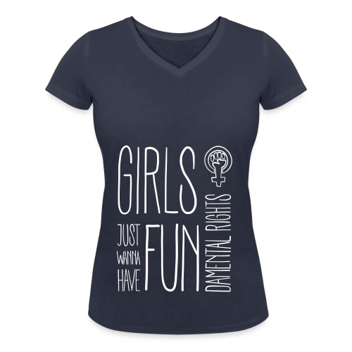 Girls just wanna have fundamental rights - Frauen Bio-T-Shirt mit V-Ausschnitt von Stanley & Stella