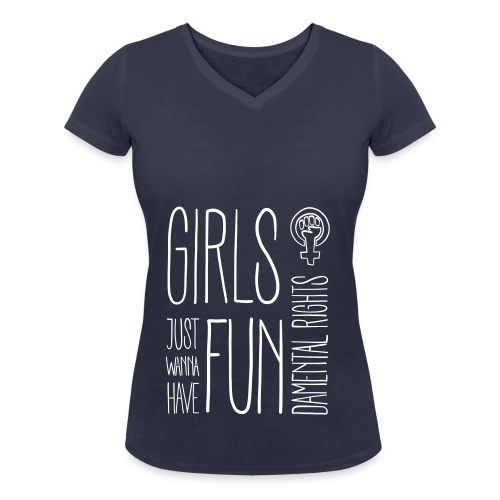 Girls just wanna have fundamental rights - Frauen Bio-T-Shirt mit V-Ausschnitt von Stanley & Stella