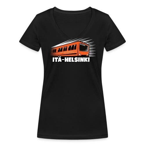 ITÄ-HELSINKI METRO T-paidat, Hupparit, lahjat ym. - Stanley & Stellan naisten v-aukkoinen luomu-T-paita