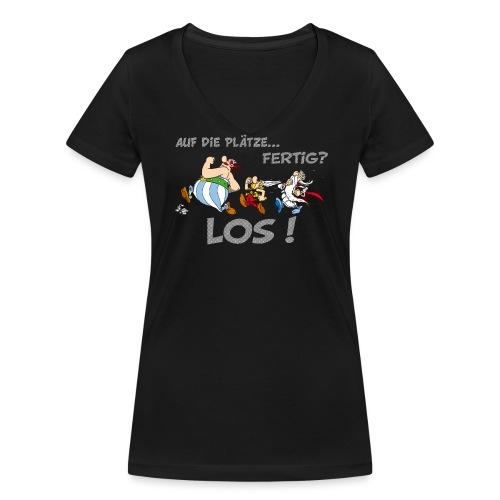 Asterix Obelix Auf die Plätze... Fertig? Los! - T-shirt bio col V Stanley & Stella Femme