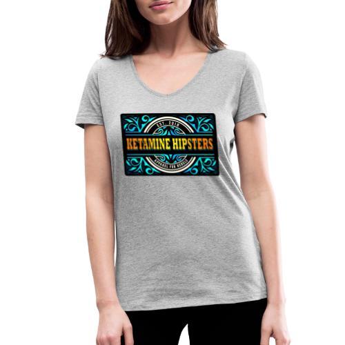 Black Vintage - KETAMINE HIPSTERS Apparel - Women's Organic V-Neck T-Shirt by Stanley & Stella
