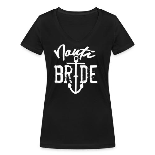 Nautische Seemanns-Braut - Frauen Bio-T-Shirt mit V-Ausschnitt von Stanley & Stella