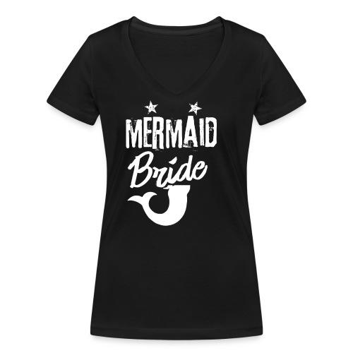 Meerjungenfrau Braut - Frauen Bio-T-Shirt mit V-Ausschnitt von Stanley & Stella