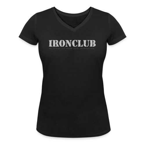 IRONCLUB - a way of life for everyone - Økologisk T-skjorte med V-hals for kvinner fra Stanley & Stella