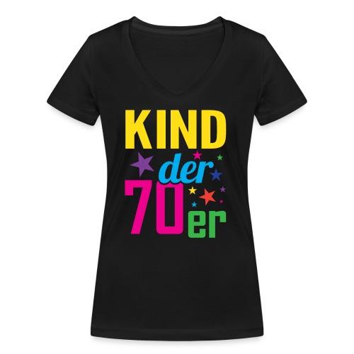 Kind der 70er - Frauen Bio-T-Shirt mit V-Ausschnitt von Stanley & Stella