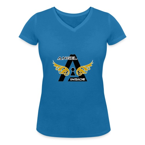 ANGEL INSIDE2-01 - T-shirt ecologica da donna con scollo a V di Stanley & Stella