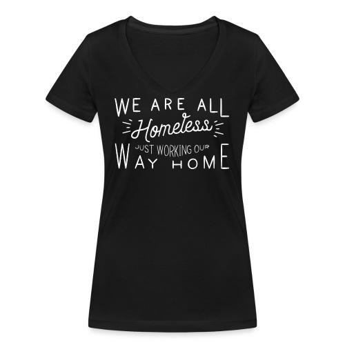 Homeless - Vrouwen bio T-shirt met V-hals van Stanley & Stella
