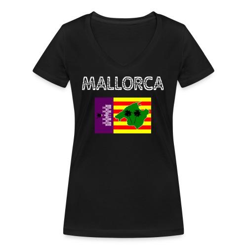 Mallorca 2018 - Frauen Bio-T-Shirt mit V-Ausschnitt von Stanley & Stella