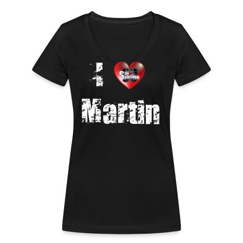 I Love Martin5 png - Frauen Bio-T-Shirt mit V-Ausschnitt von Stanley & Stella