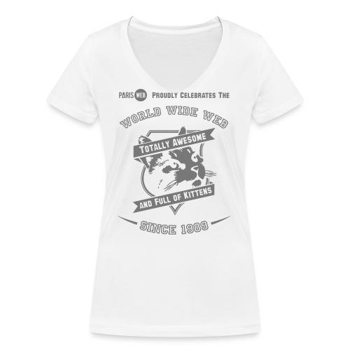 awesome & full of kittens - T-shirt bio col V Stanley & Stella Femme