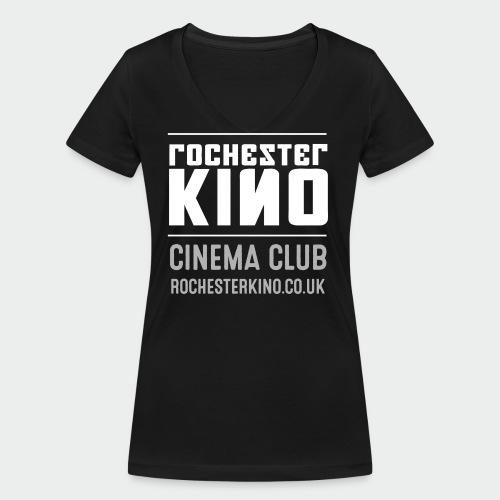 Kino logo light - Women's Organic V-Neck T-Shirt by Stanley & Stella