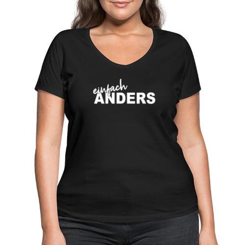 einfach ANDERS - Frauen Bio-T-Shirt mit V-Ausschnitt von Stanley & Stella