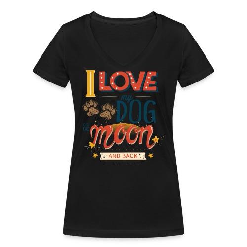 Moon Dog Light - Ekologisk T-shirt med V-ringning dam från Stanley & Stella