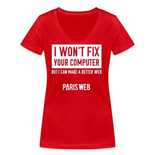 iwontfix - T-shirt bio col V Stanley & Stella Femme