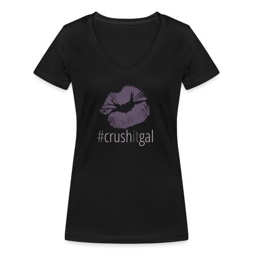 #crushitgal - Women's Organic V-Neck T-Shirt by Stanley & Stella