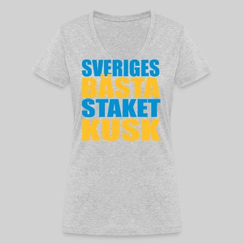 Sveriges bästa staketkusk! - Ekologisk T-shirt med V-ringning dam från Stanley & Stella