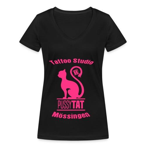 PussyV002 - Frauen Bio-T-Shirt mit V-Ausschnitt von Stanley & Stella