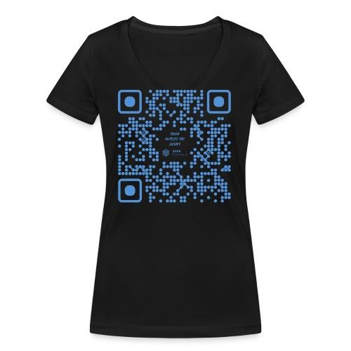 QR The New Internet Shouldn t Be Blockchain Based - Women's Organic V-Neck T-Shirt by Stanley & Stella