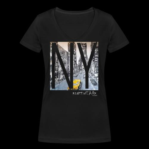 TIME SQUARE - Frauen Bio-T-Shirt mit V-Ausschnitt von Stanley & Stella