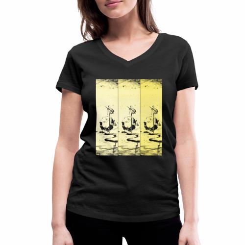 hotei - utagawa kuniyoshi - Frauen Bio-T-Shirt mit V-Ausschnitt von Stanley & Stella