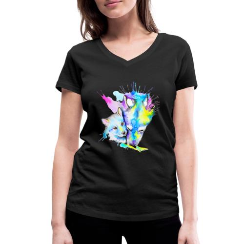 Loups Wolf - T-shirt bio col V Stanley & Stella Femme