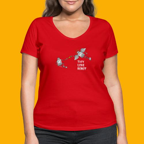 Dat Robot: Gods gift - Vrouwen bio T-shirt met V-hals van Stanley & Stella