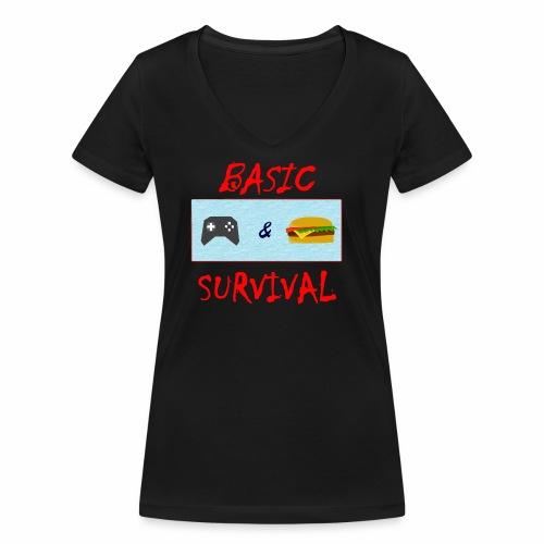 Basic Survival - Women's Organic V-Neck T-Shirt by Stanley & Stella