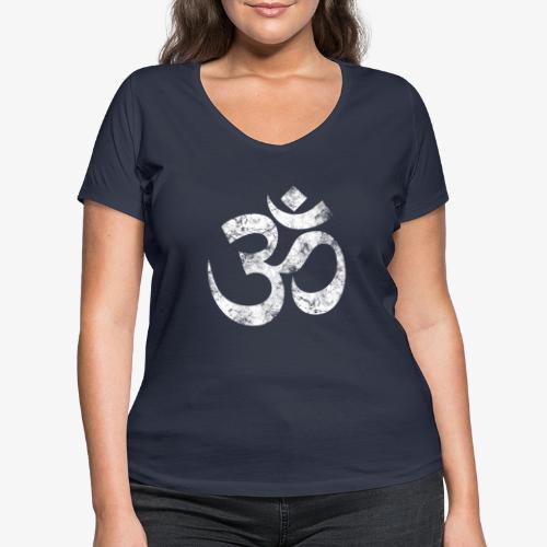 OM - Frauen Bio-T-Shirt mit V-Ausschnitt von Stanley & Stella
