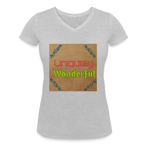 Autism statement - Women's Organic V-Neck T-Shirt by Stanley & Stella