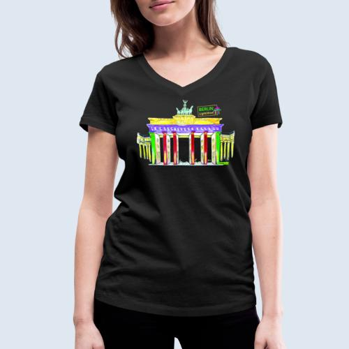 """Berliner """"Brandenburger Tor"""" PopArt BLS Design - Frauen Bio-T-Shirt mit V-Ausschnitt von Stanley & Stella"""