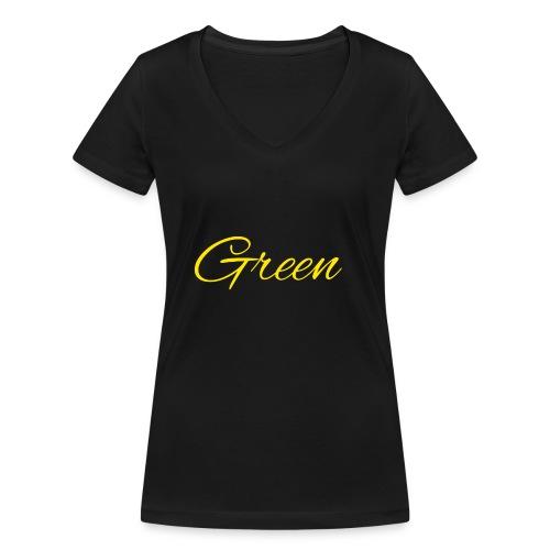 Green - Vrouwen bio T-shirt met V-hals van Stanley & Stella