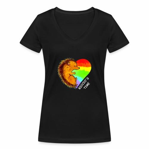RICCIO'S TIME - T-shirt ecologica da donna con scollo a V di Stanley & Stella