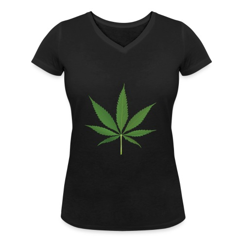 Weed - Women's Organic V-Neck T-Shirt by Stanley & Stella