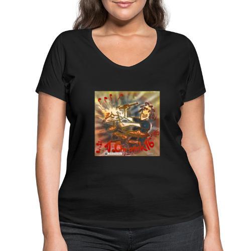 Design Drums 1. Chronik 16 - Frauen Bio-T-Shirt mit V-Ausschnitt von Stanley & Stella