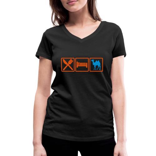 eatsex chameau2 - T-shirt bio col V Stanley & Stella Femme