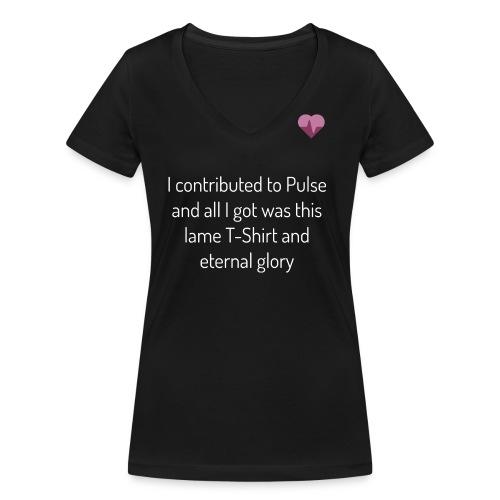 pulse shirt1 black - Ekologisk T-shirt med V-ringning dam från Stanley & Stella