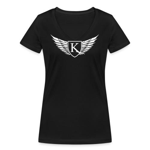 K-Wings white - Frauen Bio-T-Shirt mit V-Ausschnitt von Stanley & Stella