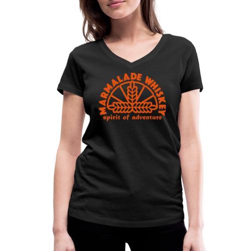 Marmalade Whiskey - Women's Organic V-Neck T-Shirt by Stanley & Stella