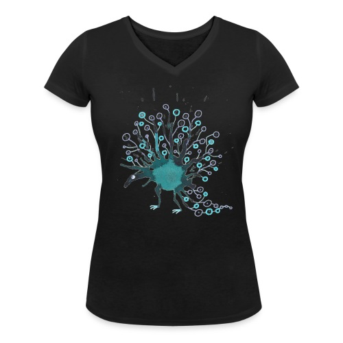 blaublau 1 png - Frauen Bio-T-Shirt mit V-Ausschnitt von Stanley & Stella