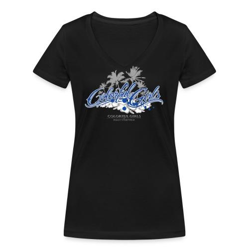 Colorful Girls Logo - Frauen Bio-T-Shirt mit V-Ausschnitt von Stanley & Stella