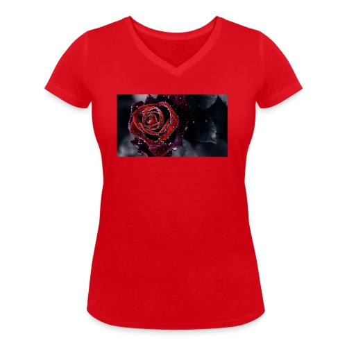 rose tank tops and tshirts - Women's Organic V-Neck T-Shirt by Stanley & Stella
